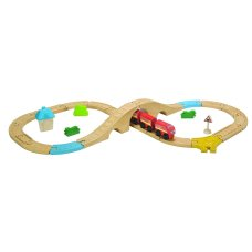 Set de train Plantoys 29 pièces