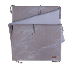Babies Only Bedbumper Marble gris / lilas