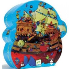 Djeco puzzle pirate ship bleu
