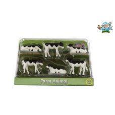 Kids Globe Calves Black White 6 Pièces 1:32