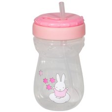 Miffy Coupe en paille 360 ml Rose