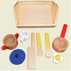 Playwood Cooking Set sur le plateau